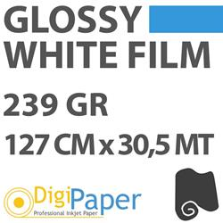 DigiPaper White Film Glossy 239g 127cm x 30,5mt An51 Limited Edition