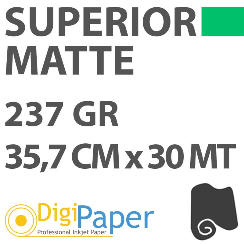 Carta DigiPaper Superior Matte 237gr 35,7 cm x 30mt
