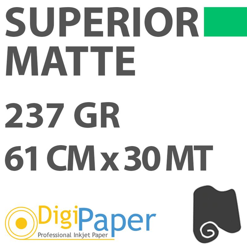 Carta DigiPaper Superior Matte 237gr 61 cm x 30mt